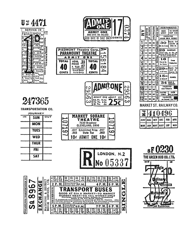 Stampers Anonymous Tim Holtz Large Cling Rubber Stamp Set Odds and Ends