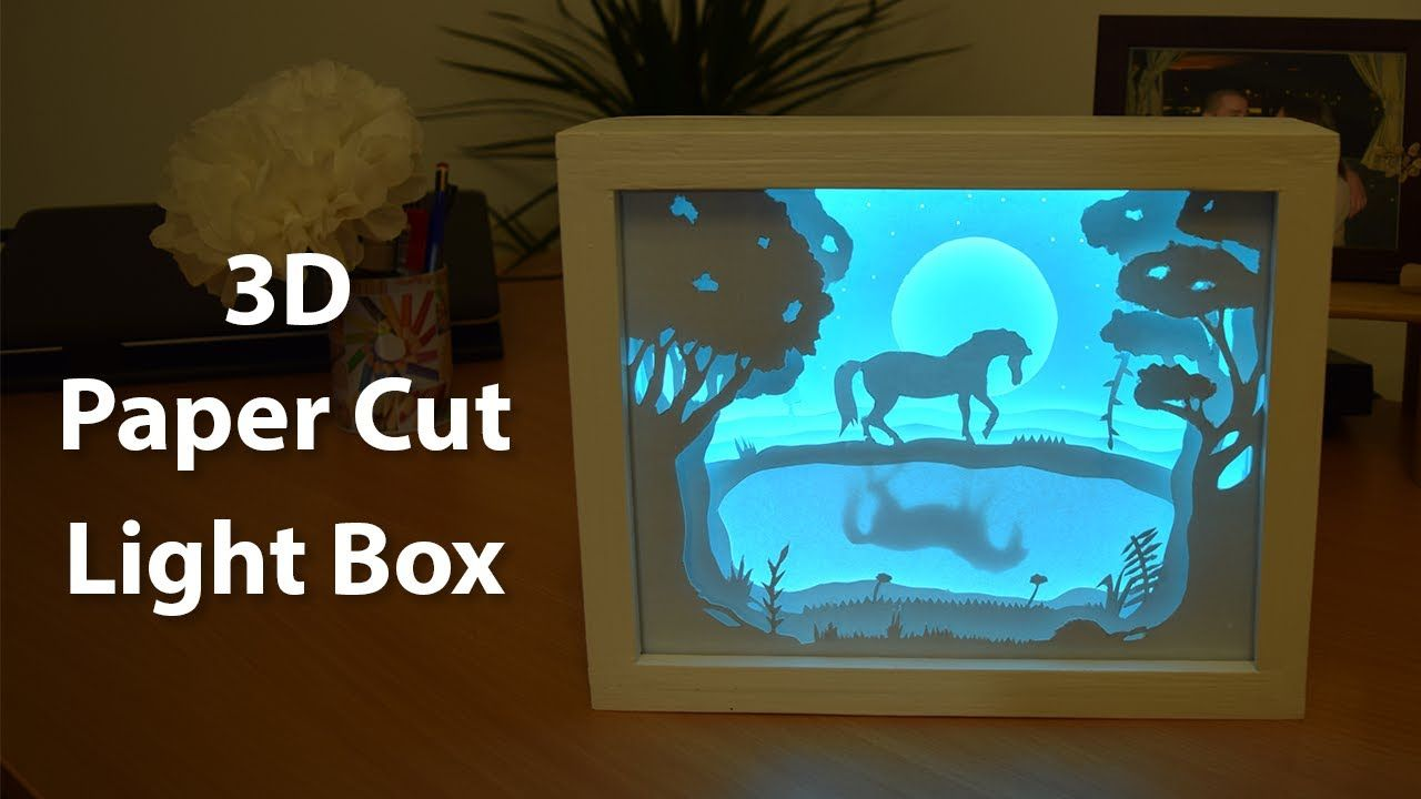How To Create A 3D Paper Cut Light Box | DIY Project | Crafts ...