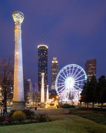 10 Fun Things to Do in Atlanta  Image: Olympic Park at Night