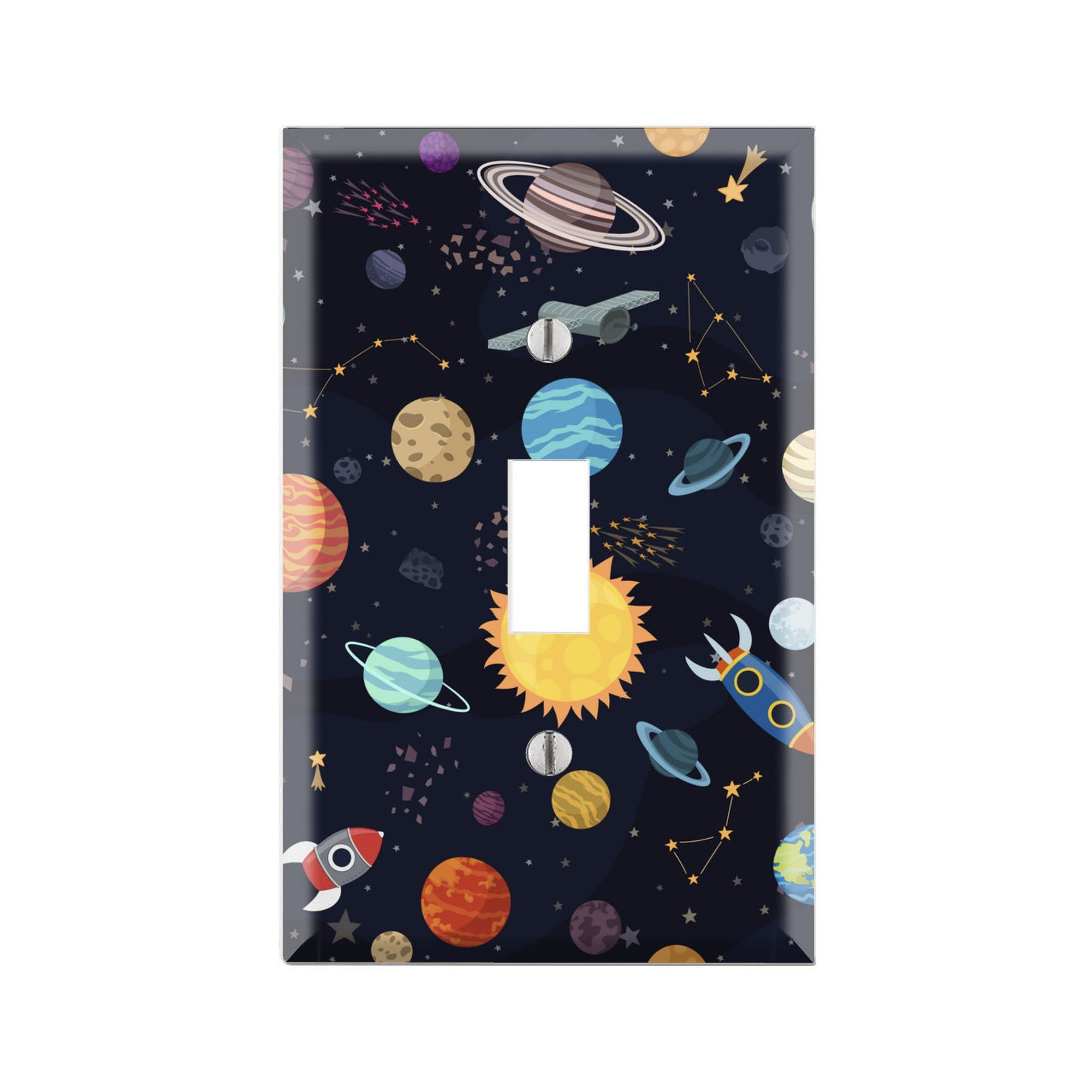 Solar System Wall Plate Cover Solar System Light Switch Etsy Light Switch Covers Decorative Light Switch Covers Light Switch Covers Diy
