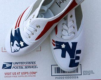 3802f198d2985 New England Patriots Shoes, Painted Sneakers, Pats, Tom Brady ...