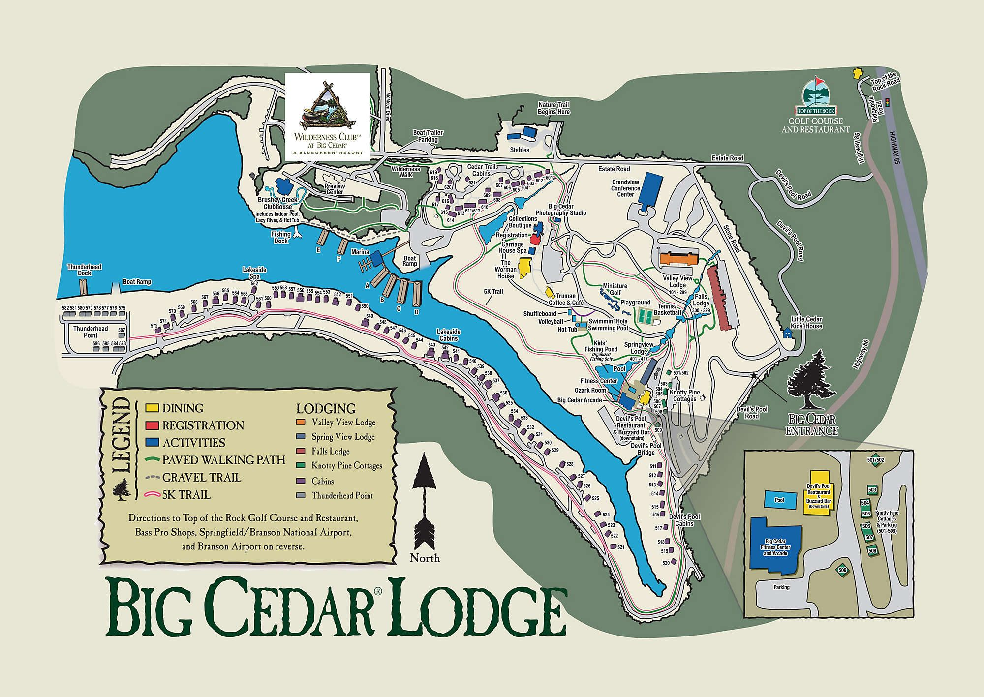 Big Cedar Lodge Map Wilderness Club™ at Big Cedar in 2019 | Vacations and Conferences