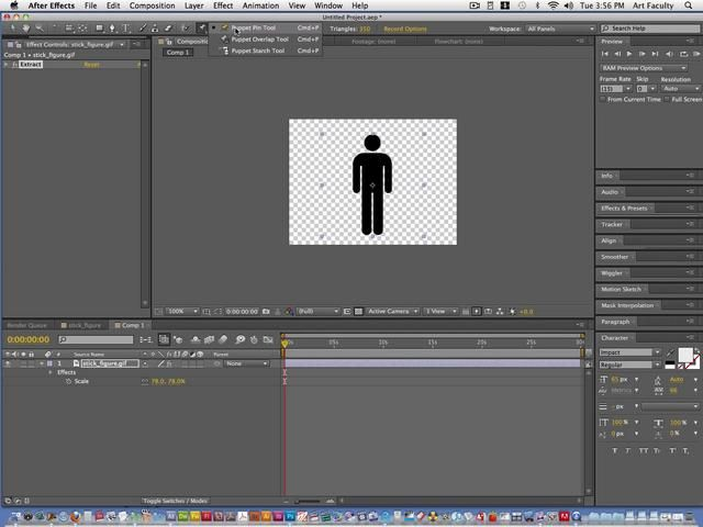 Want to make your images shimmy and shake? Try the Puppet Tool!