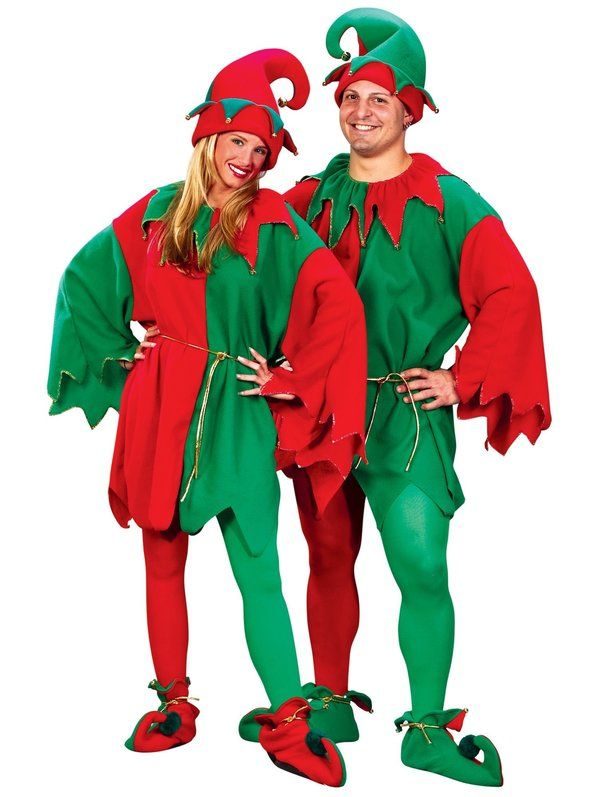 Christmas Xmas Adult Elf Red Green Striped Tights Fancy Dress Festive Novelty