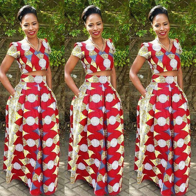 Aso Ebi Styles : Ankara Styles Top and Skirt | Favoriten