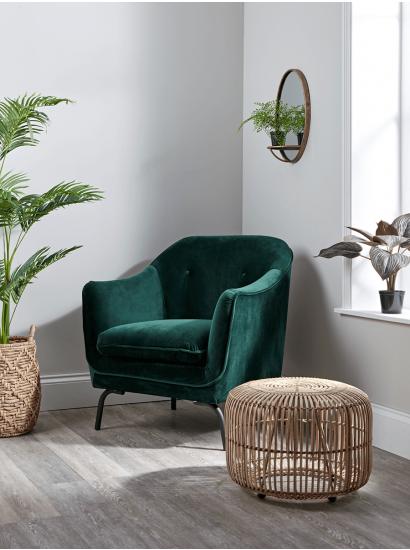Forest Green Velvet Occasional Chair Green Chair Living Room