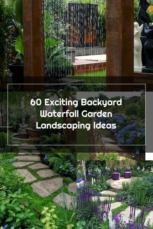 60 Marvelous Backyard Waterfall Garden Landscaping Ideas  #gardenlandscaping #gardenideas #backyardlandscaping