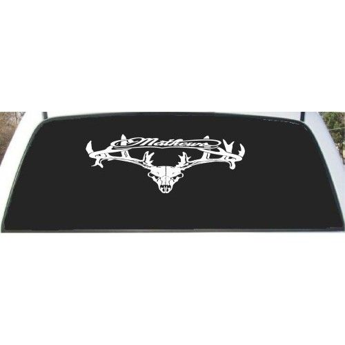 Mathews Solocam Deer Skull Hunting Rear Window Decal X - Rear window hunting decals for trucks