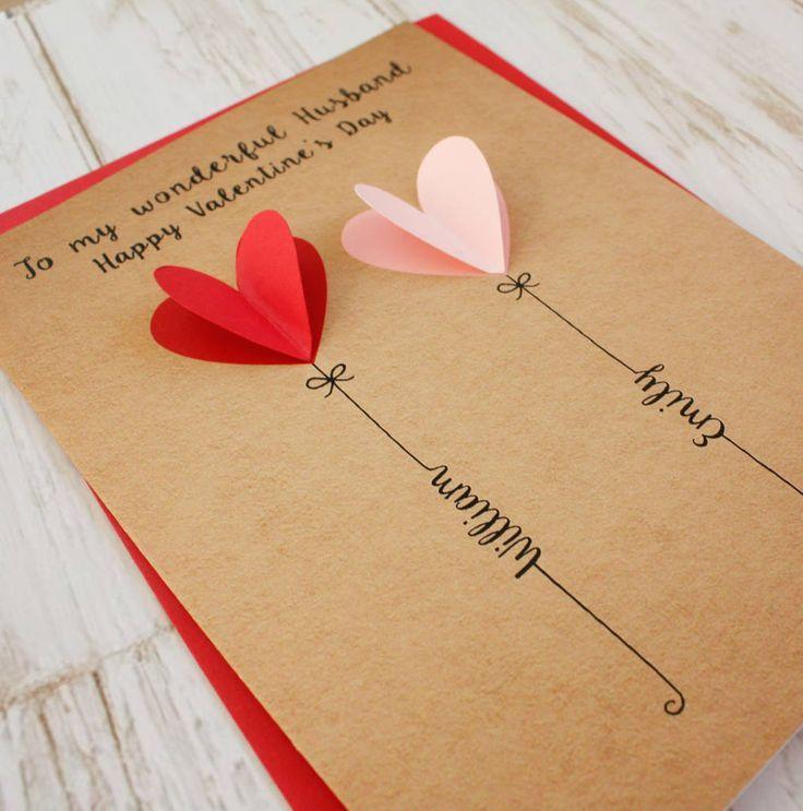 Personalisierte 3D-Karte zum Valentinstag - #3DKarte #personalisierte #Valentinstag #zum