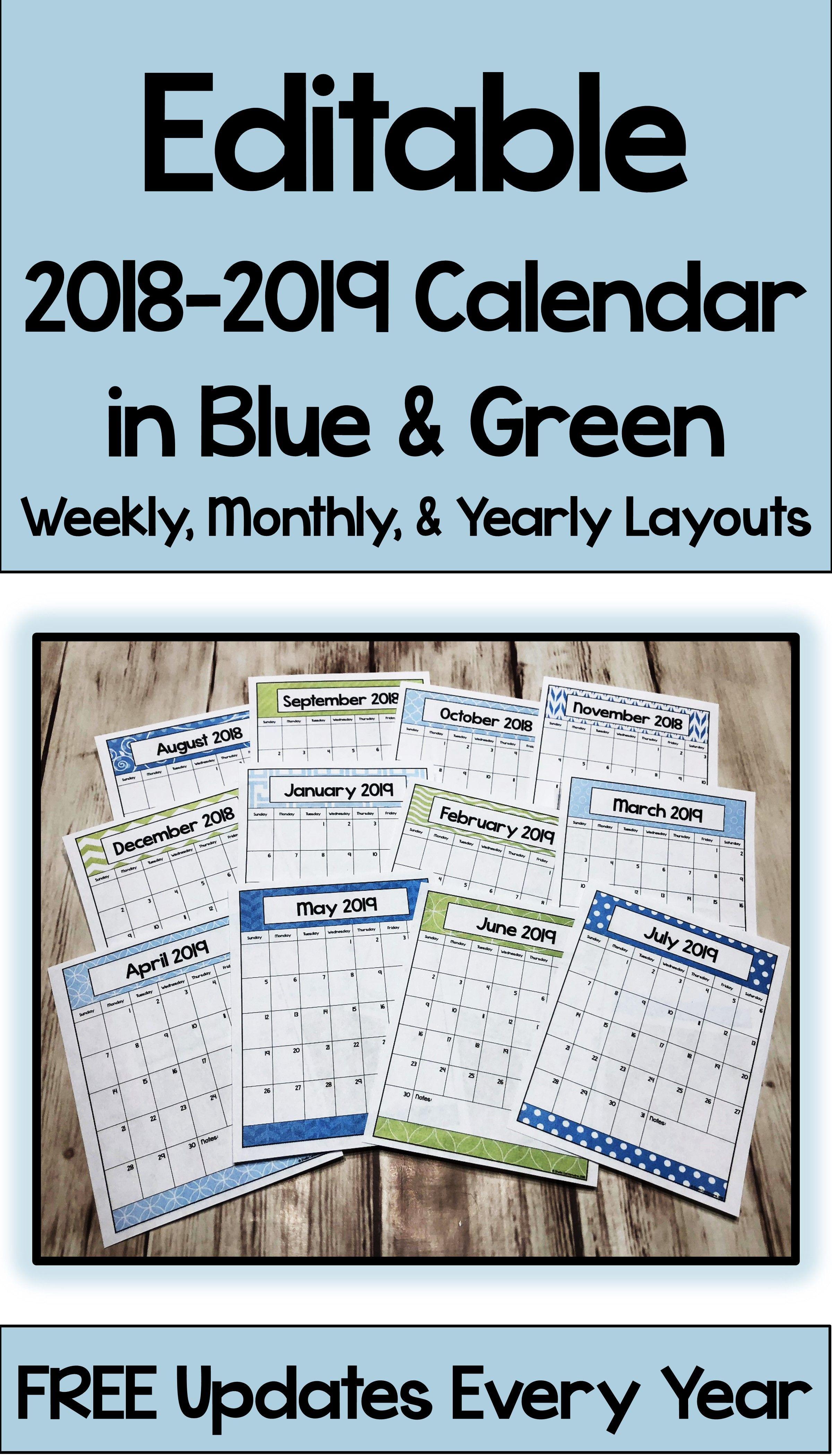 Calendar Printable And Editable With Free