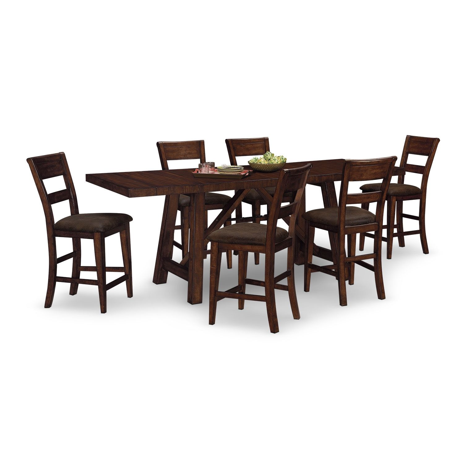 Dining Room Furniture  Everett 7 Pccounterheight Dinette Gorgeous Value City Kitchen Sets 2018