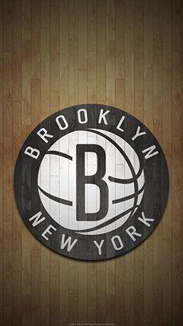 Brooklyn Nets Mobile Hardwood Logo Wallpaper Brooklyn Nets Nba Wallpapers Basketball Players Nba