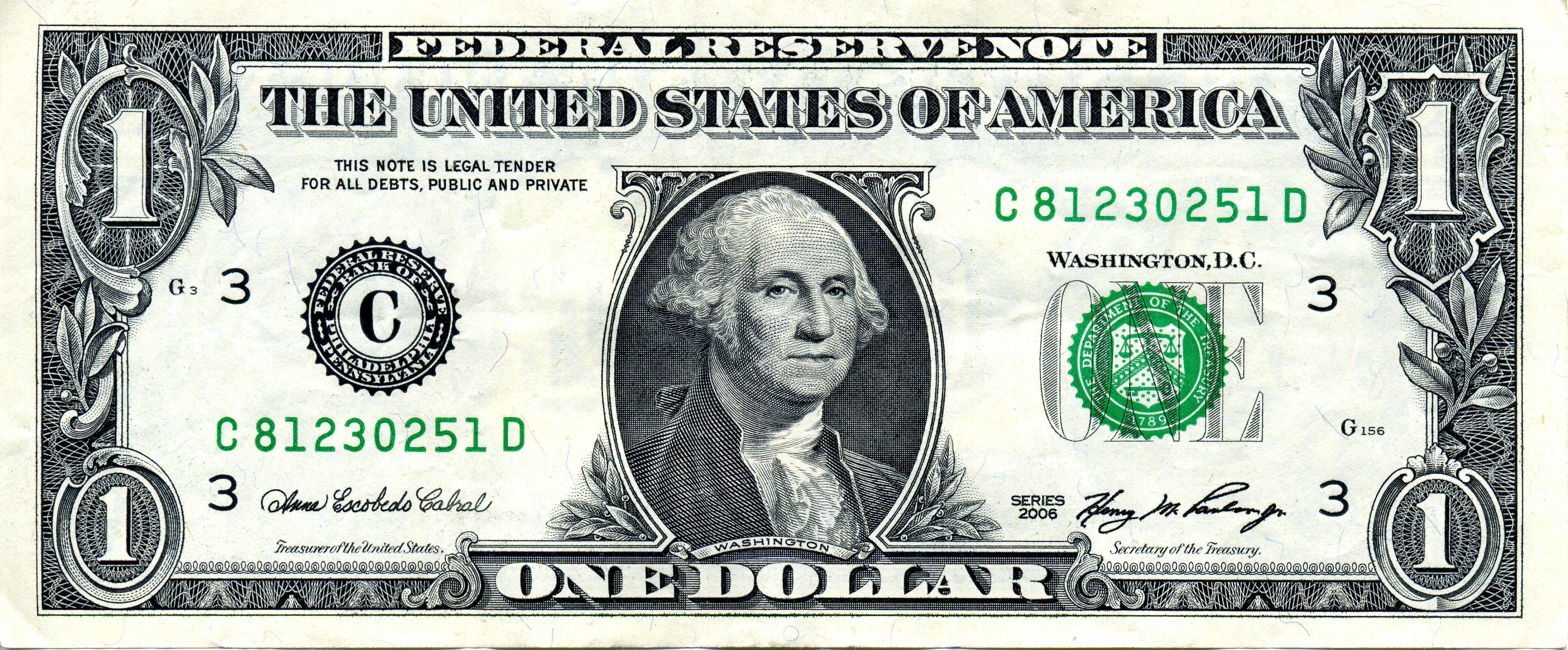 Dollar Bill Clipart Images One Dollar Bill Dollar Bill Money Template