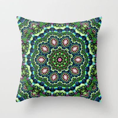 Mystical Lily Pond Mandala Throw Pillow $20 | Pillows ...