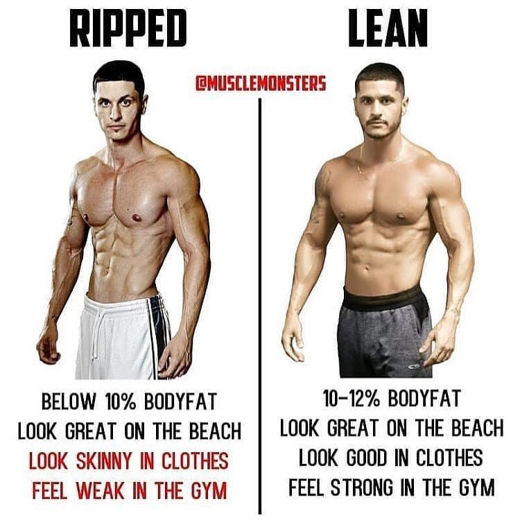 ripped vs lean by musclemonsters being ripped is all well and