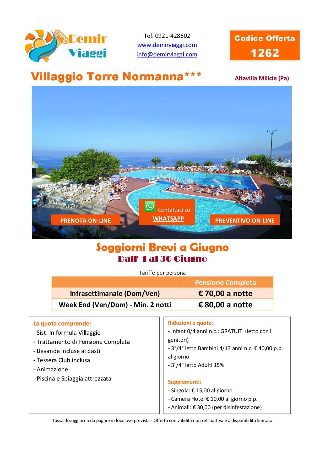 Hotel Villaggio Torre Normanna*** - Altavilla Milicia (Pa ...