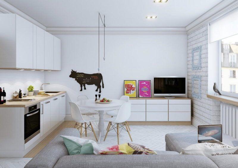 Cucina salotto open space piccoli spazi foto, idee (con