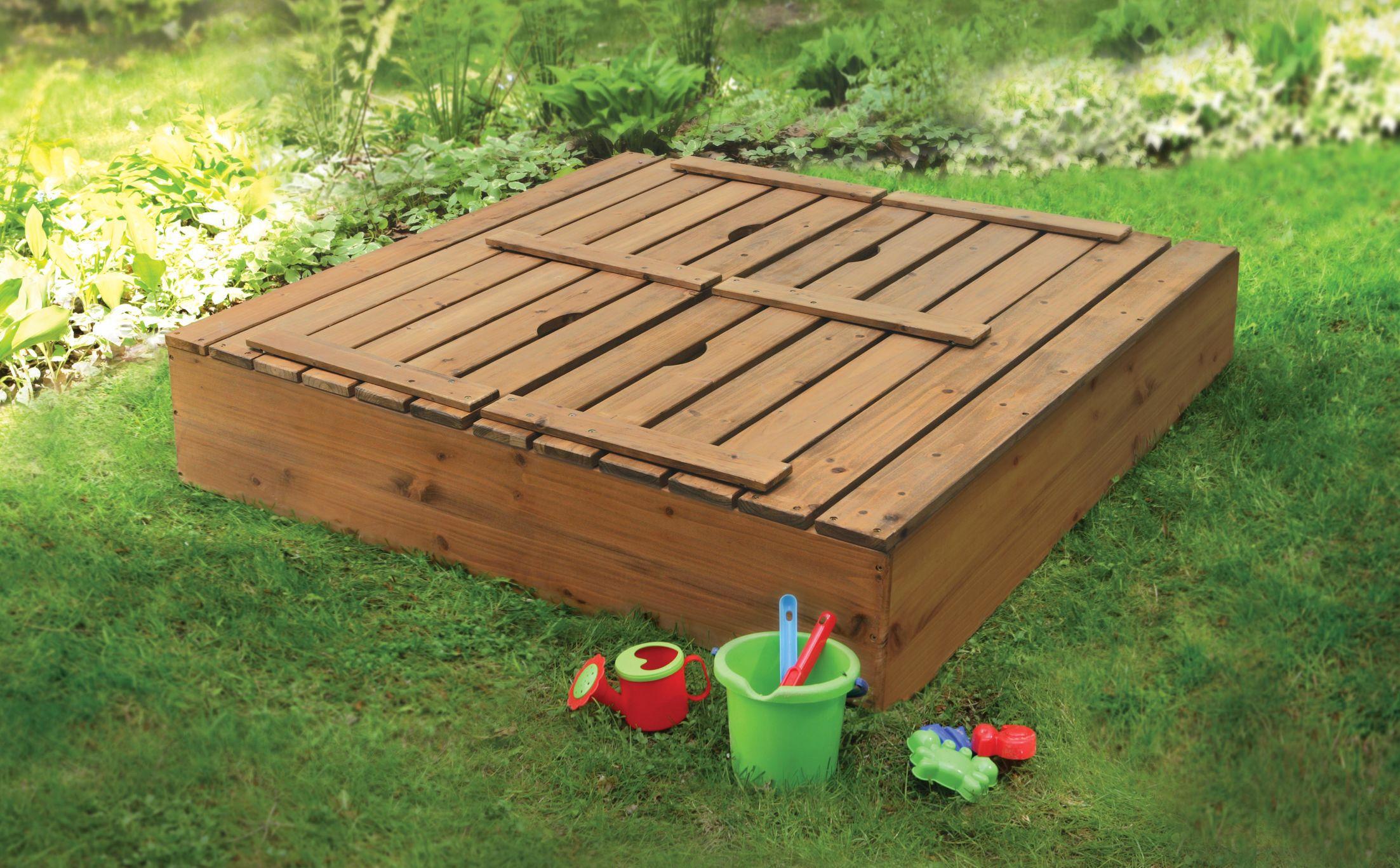 Cedar 4 Rectangular Sandbox Wooden Sandbox Sandboxes Sandbox