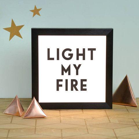 'Light My Fire' Illuminating Light Box