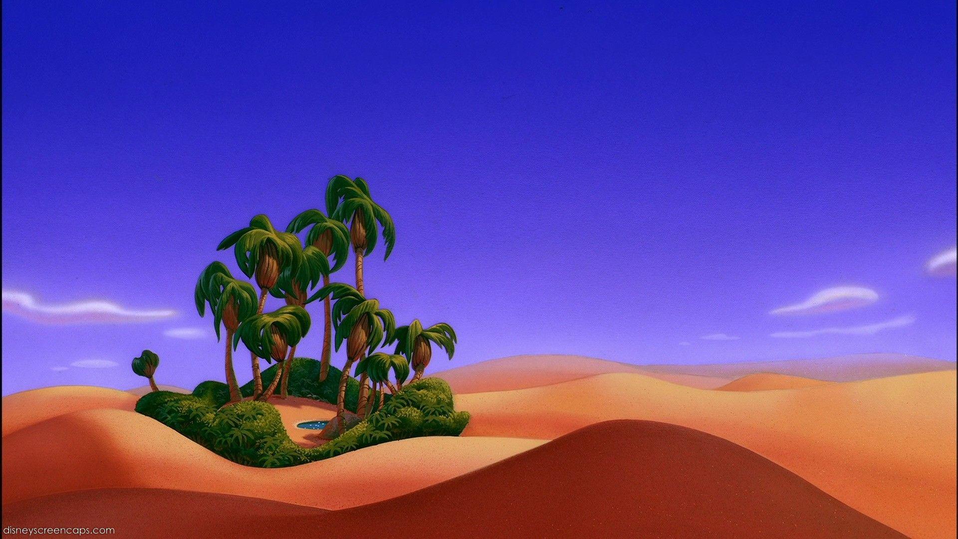 Empty Backdrop From Aladdin Disney