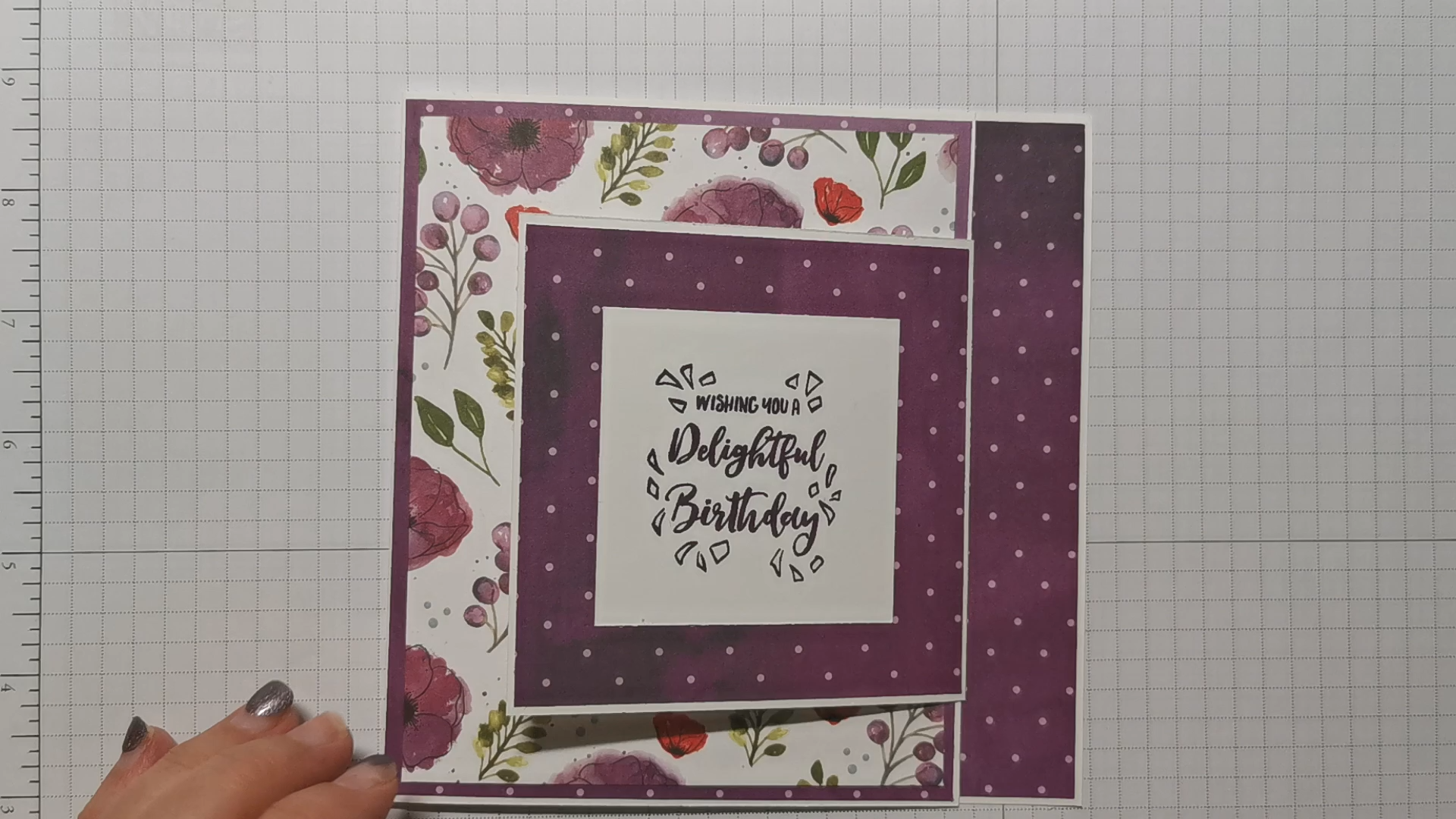 Fun fold card inspiration with Peaceful Poppies by Stampin' Up!