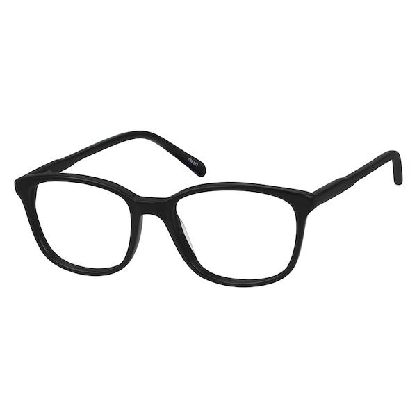 a878971dc62 Zenni Square Prescription Eyeglasses Black Tortoiseshell Plastic 188321