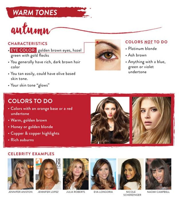 Warm tones autumn hair color chart guide to the best for your skintone also pinterest coloring golden blonde rh