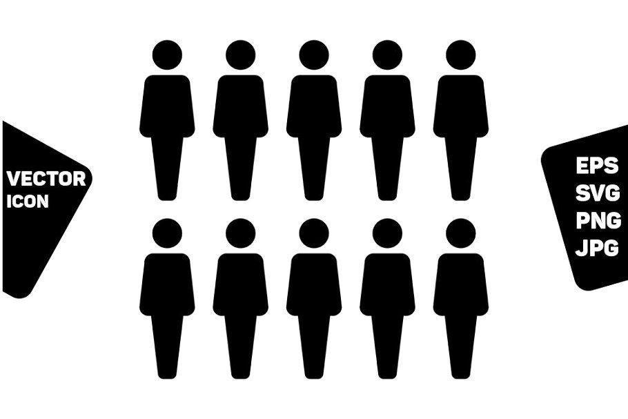 People Icon Vector Male Group People Icon Icon Vector