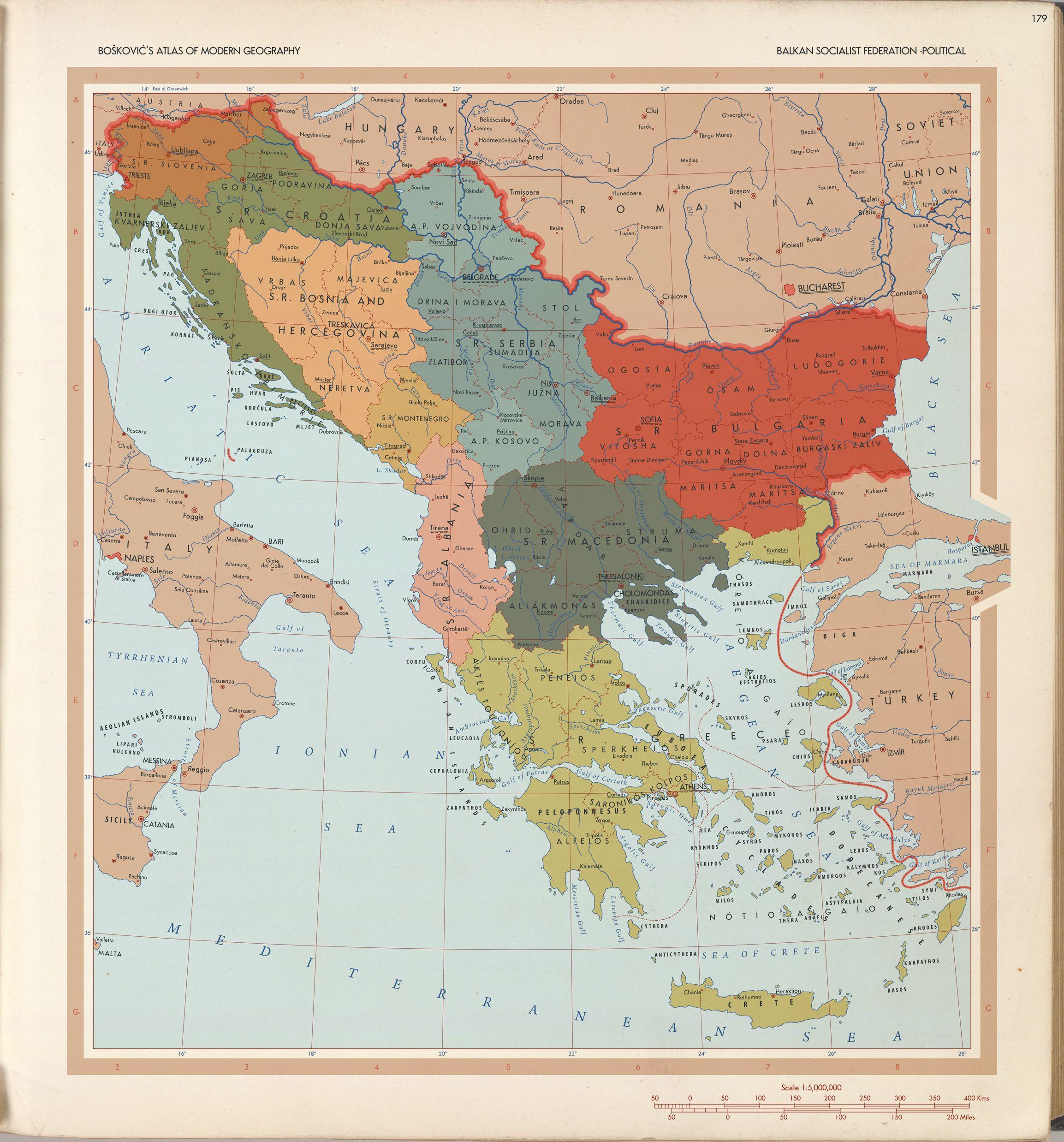 Balkan Socialist Federation 1964 Map Imaginary Maps Balkan