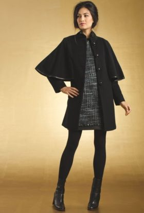 LONDONER COAT #TrinaTurk Wool and Cashmere<  Love this...it's like cape/coat combo, very cute.