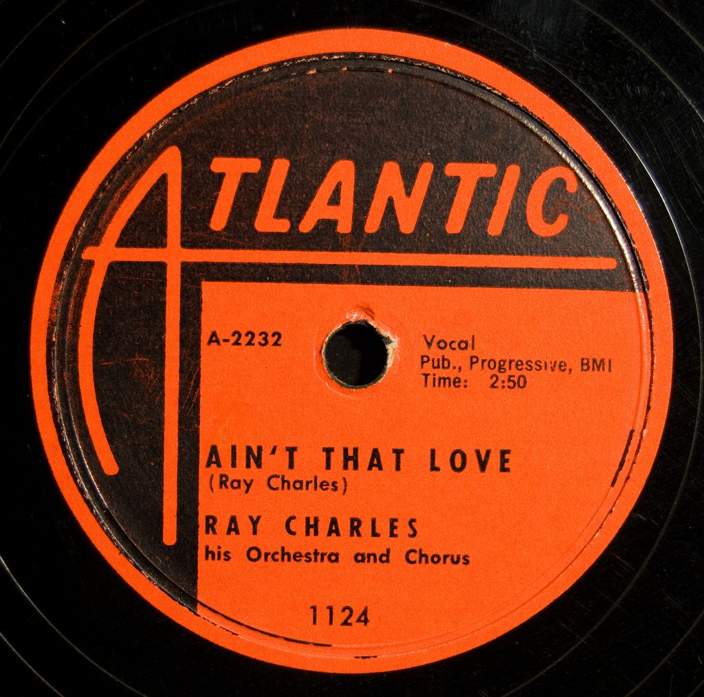 Atlantic Label Ain T That Love Ray Charles Ray Charles Vinyl Record Art Vintage Records