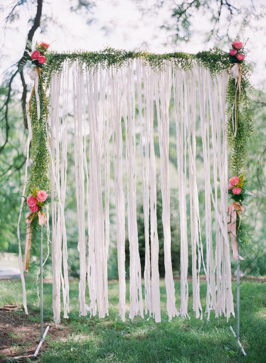 Wedding decorations stage backdrops october 2018 Cincinnati Colorful Outdoor Park Wedding  Ceremony arch Wedding