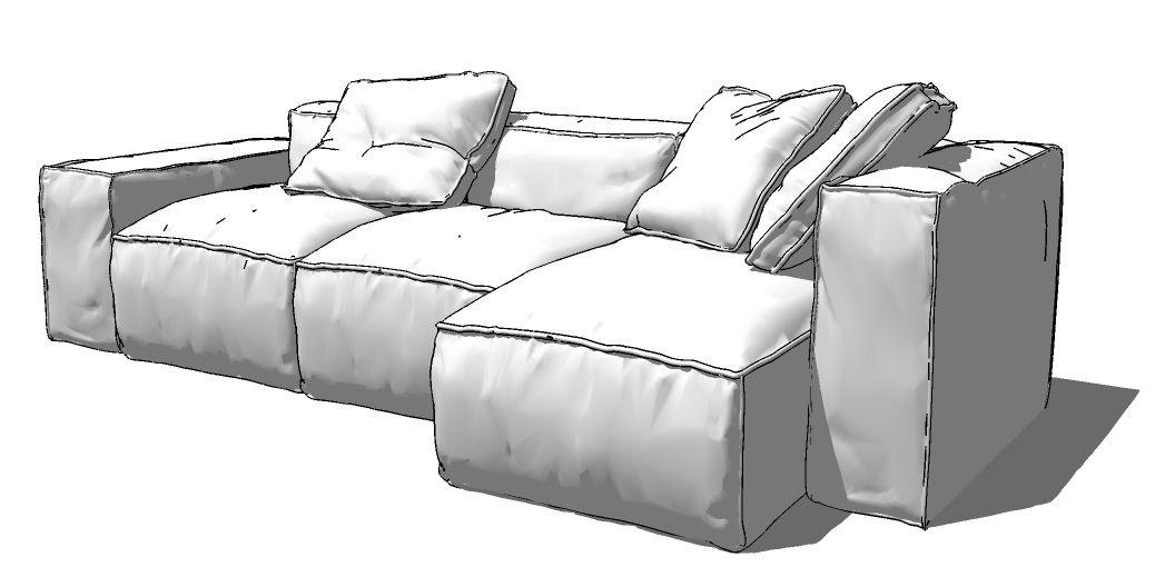 Sketchup 3d Model Home Furniture Sofa