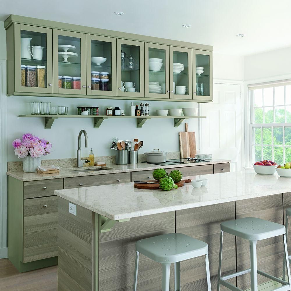 Cream Color Kitchen Cabinet | Colors, Cabinet design and Cabinets