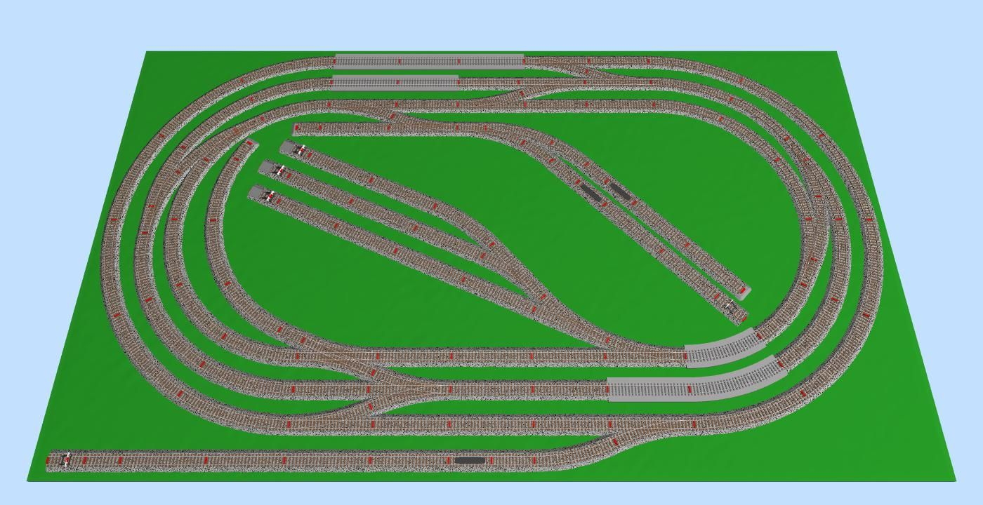 Marklin HO C-track Layout 205x120 Model Trains, Layouts