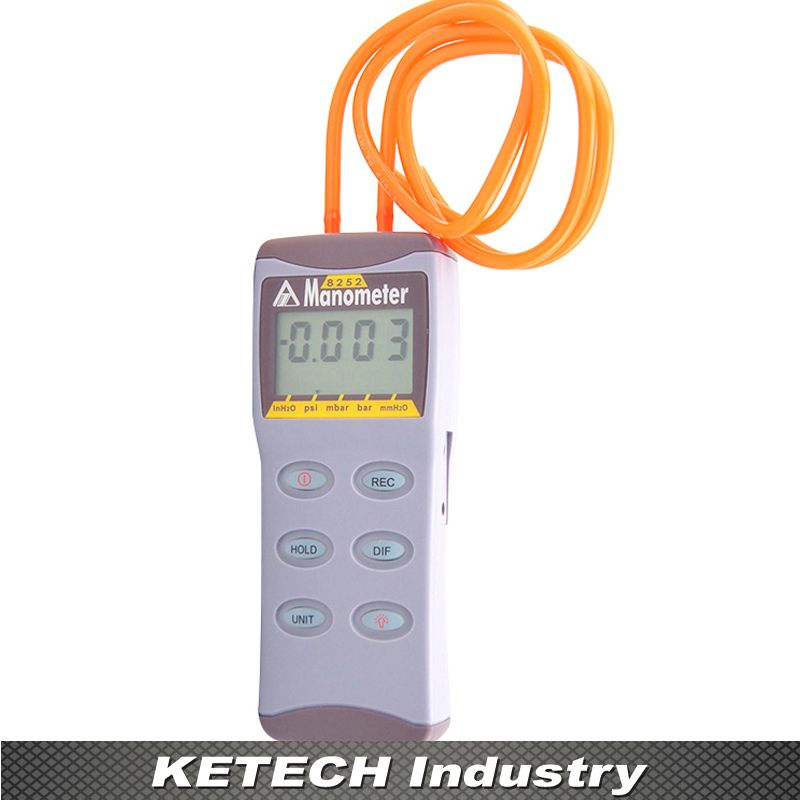 Az 8252 High Precision Electronic Micro Digital Manometer Pressure Instrument Pressure Gauge Digital Pressure Gauge Pressure Gauge Gauges