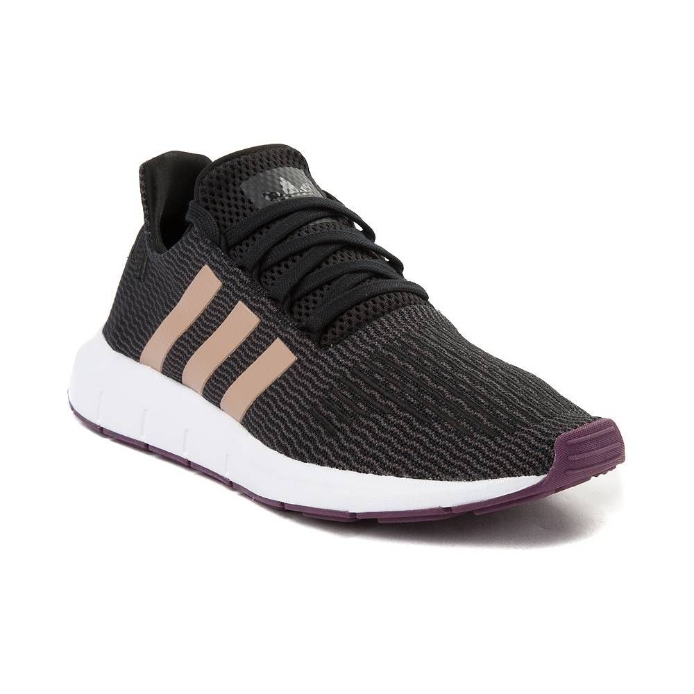 size 10 Womens adidas Swift Run Athletic Shoe - Black Ash Pearl - 436720 b4d779828