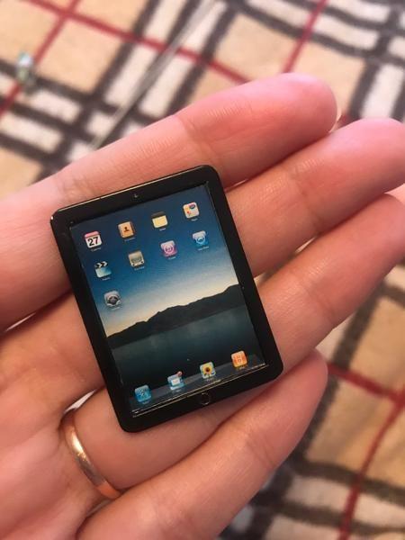 Miniature iPad Tablet (1:6 scale)