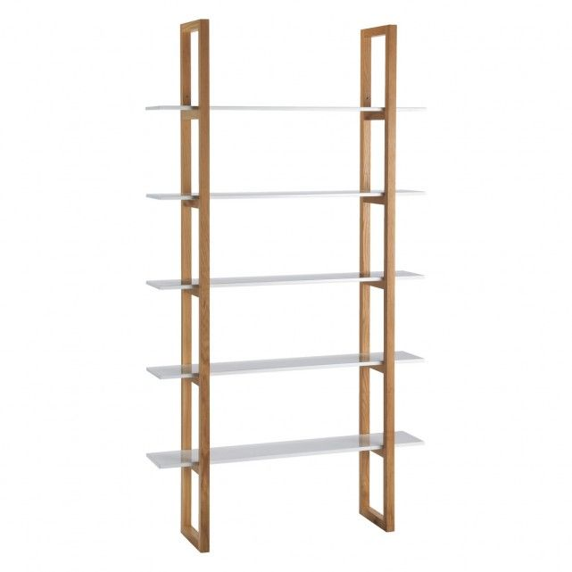 Kitchen Shelves Habitat: 5 Shelf Bookcase, Oak