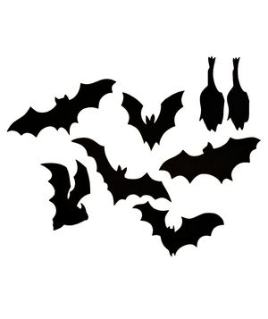 festive outdoor halloween decorations - Halloween Bat Decorations