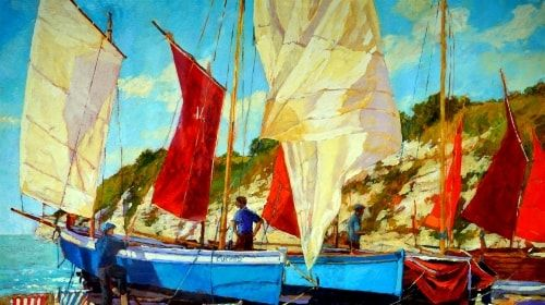 Painted Boats – Friday's Fine Art Free Daily Jigsaw Puzzle | Puzzles