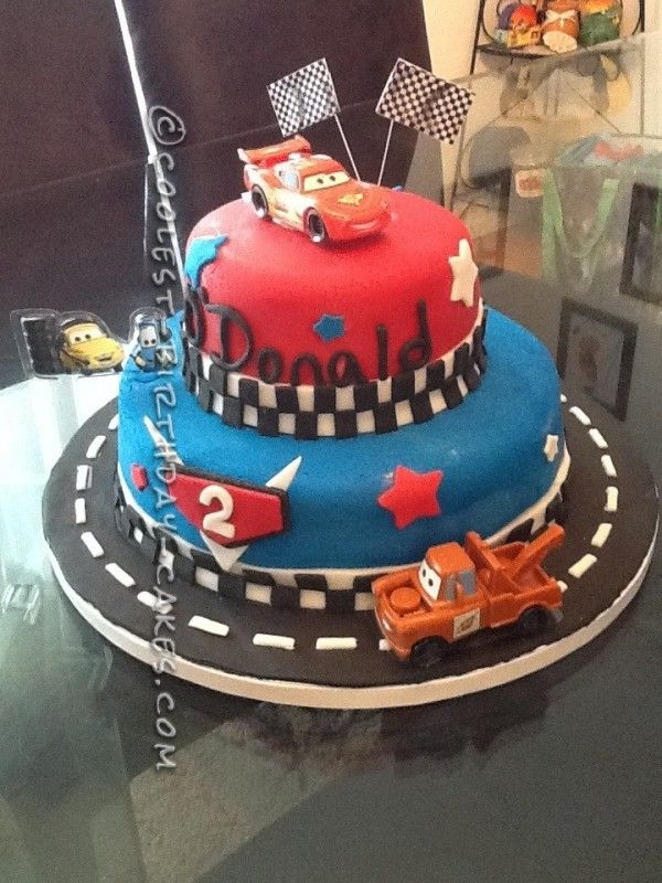 Coolest Cars 2 Cake for a 2-Year-Old Boy Birthday cakes ...
