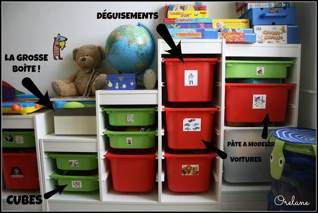 astuces et rangements pour chambre d 39 enfants rangement salle de jeux pinterest. Black Bedroom Furniture Sets. Home Design Ideas