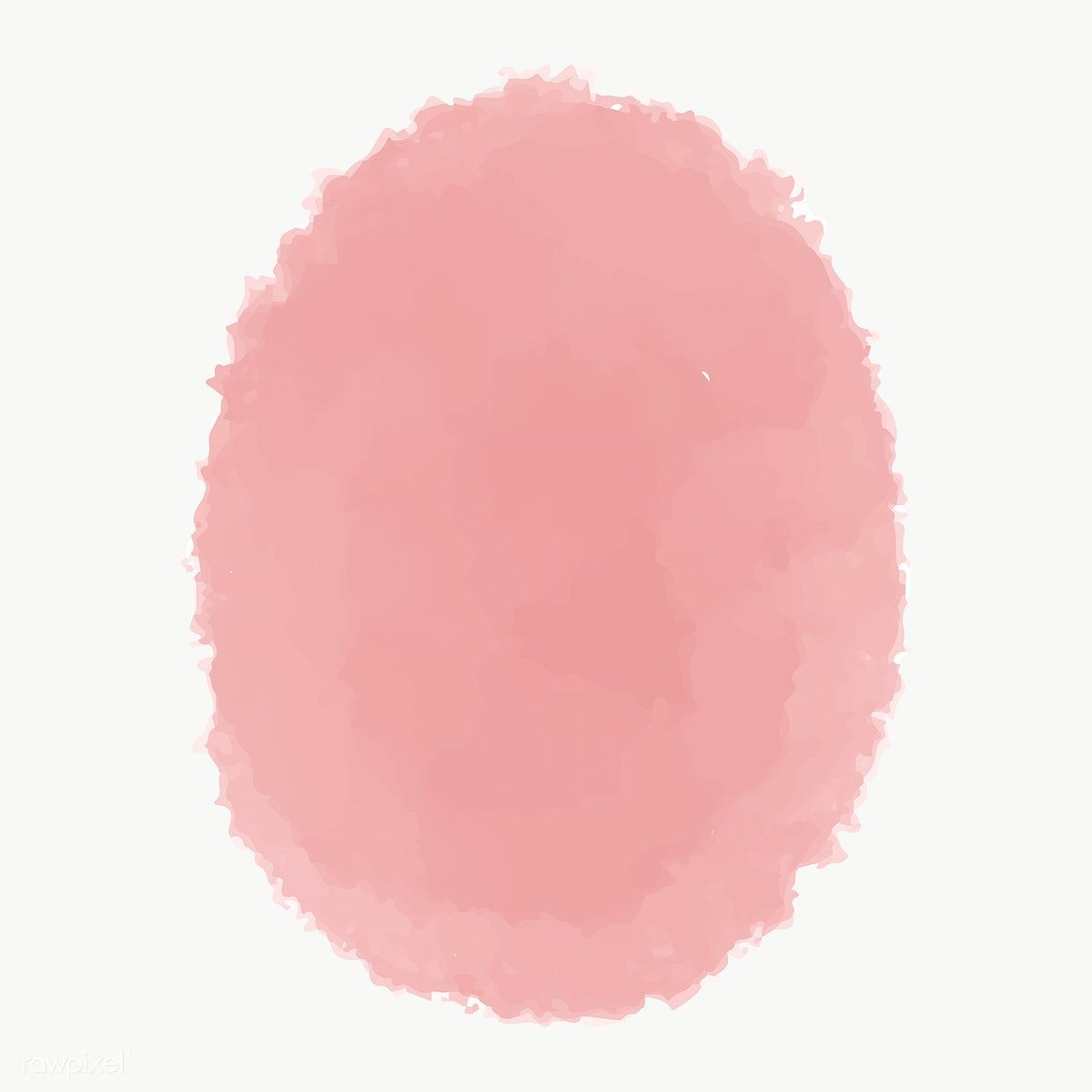 Pink Watercolor Oval Geometric Shape Transparent Png Free Image By Rawpixel Com Ningzk V Pink Watercolor Geometric Shapes Printable Designs