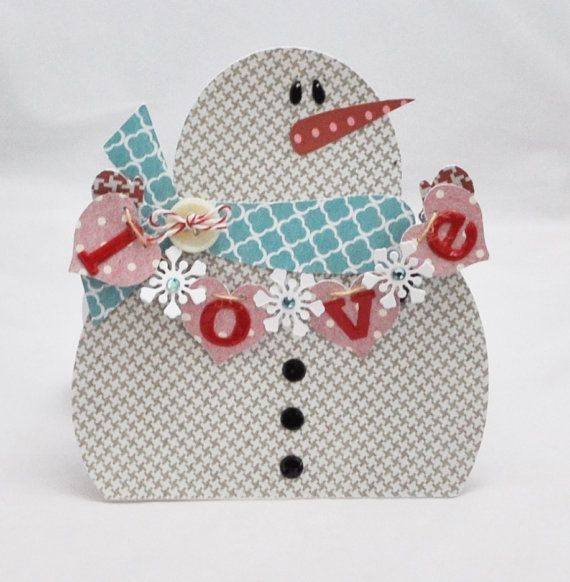 Snowman Love Gift Card Holder By CardsandMoorebyTerri On