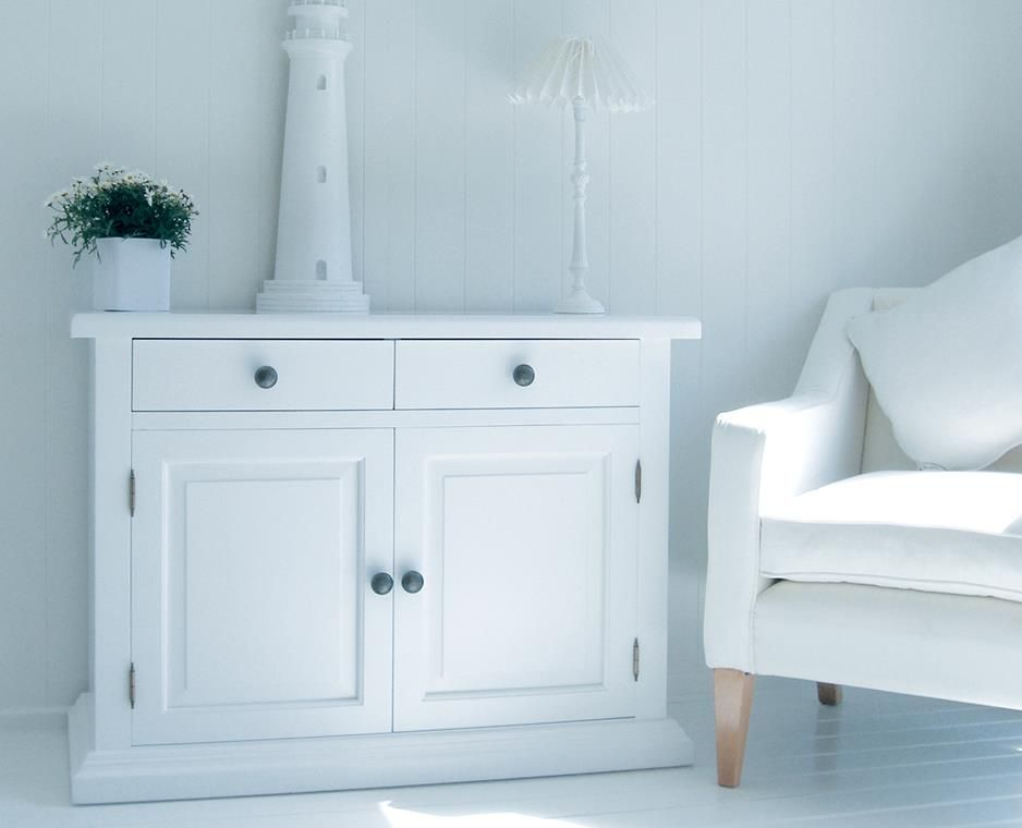 New England Small White Sideboard