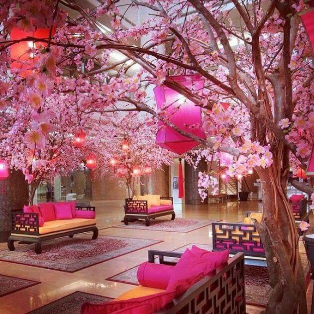 Cherry Blossom Japan Mall Decor 1st Day Of Spring Pink Room