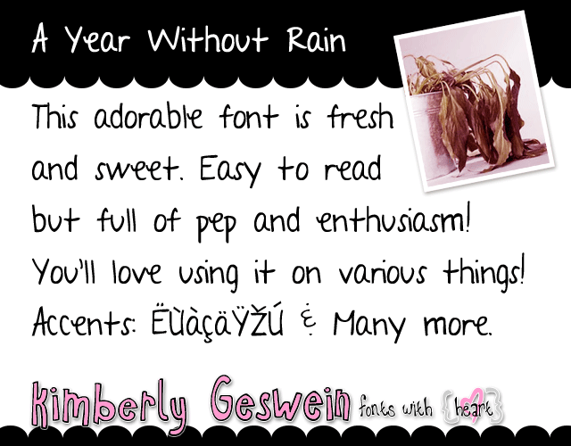 A Year Without Rain Font 1001 Fonts Fonts 1001 Fonts Rain