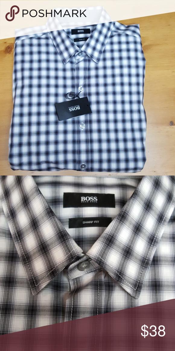 868ccfc0 Hugo Boss Dress Shirt Sharp Fit Hugo Boss long sleeve dress shirt Hugo Boss  Shirts Dress Shirts