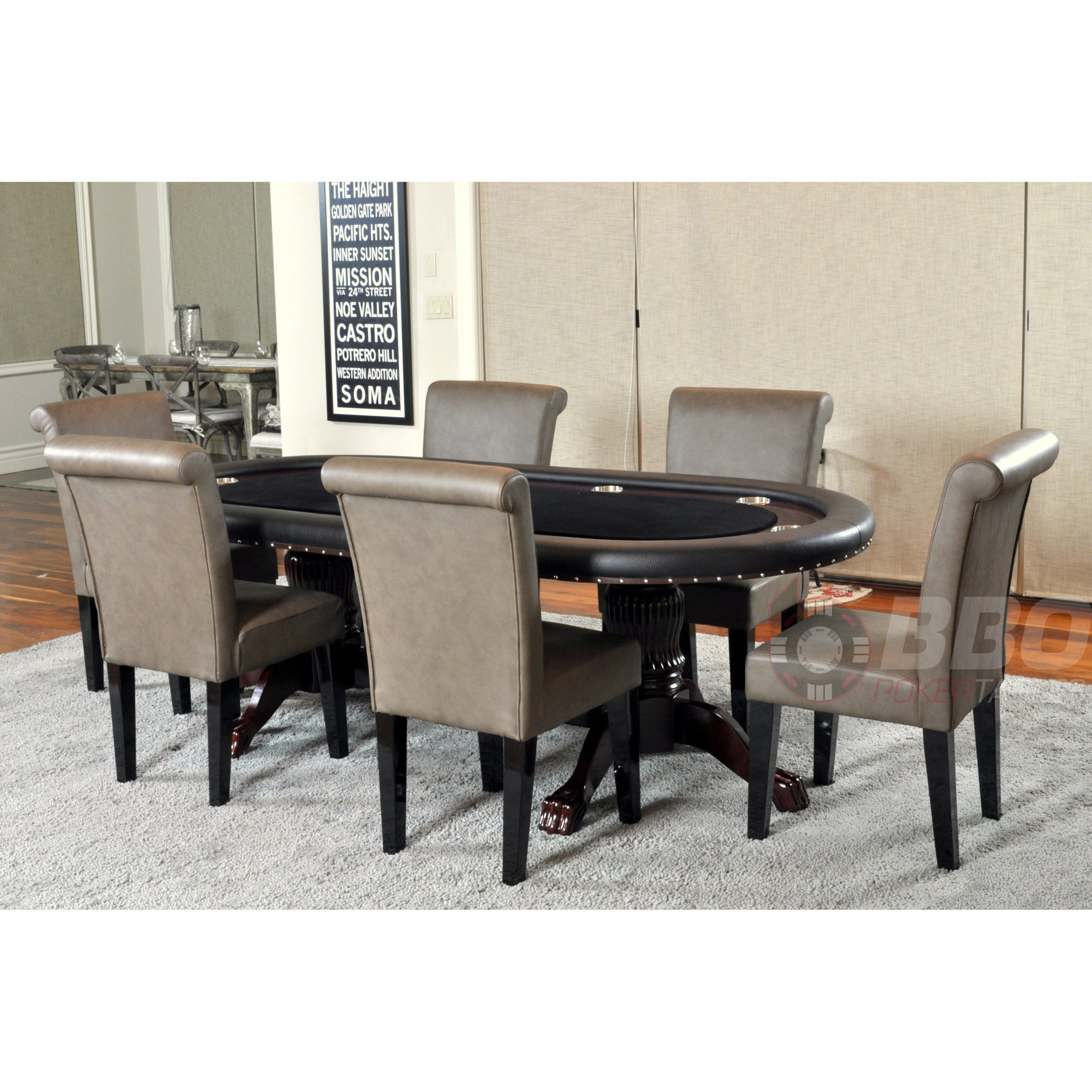 Bbo Poker Tables Rockwell 8 Piece Dining Table Set With Premium Chairs 3429 99 Dining Table Setting Table Dining Table Poker table and chairs set